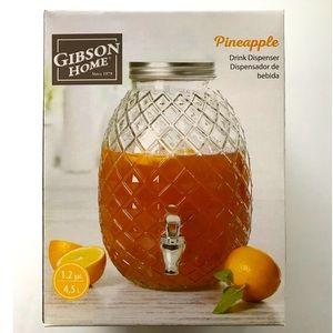 Gibson Home 1.2 Gallon Pineapple Drink Dispenser